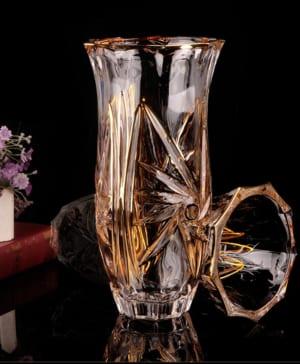 Bình hoa pha lê mạ vàng 1