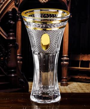Bình hoa pha lê mạ vàng 10