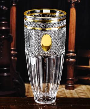 Bình hoa pha lê mạ vàng 9