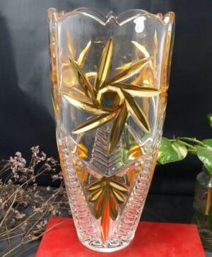 Bình hoa pha lê mạ vàng 11