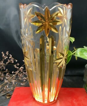 Bình hoa pha lê mạ vàng 12